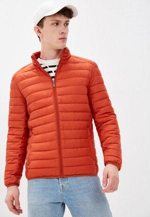 Куртка утепленная Jorg Weber. Цвет: оранжевый
