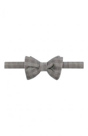 Шелковый галстук-бабочка Tom Ford. Цвет: серый