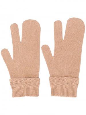Перчатки-варежки Maison Margiela. Цвет: нейтральные цвета