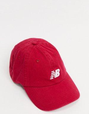 Бордовая кепка с логотипом -Красный New Balance