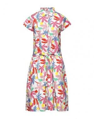 Платье до колена COMPAÑIA FANTASTICA. Цвет: белый