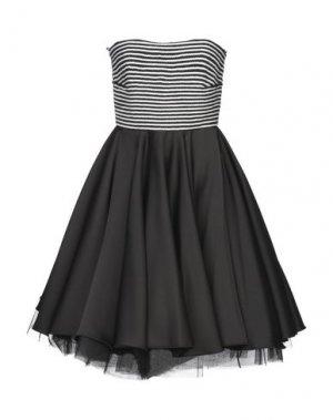 Короткое платье ALESSANDRO LEGORA. Цвет: черный