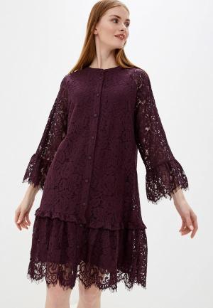 Платье b.young. Цвет: бордовый