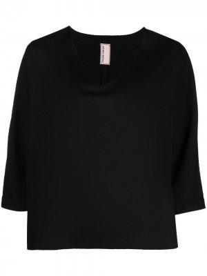 Укороченная блузка с V-образным вырезом Antonio Marras. Цвет: черный
