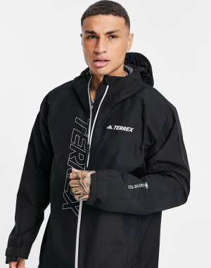 Черный дождевик adidas Terrex Gore-Tex Paclite-Черный цвет performance