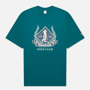 Мужская футболка Classic Golf Graphic Reebok. Цвет: зелёный