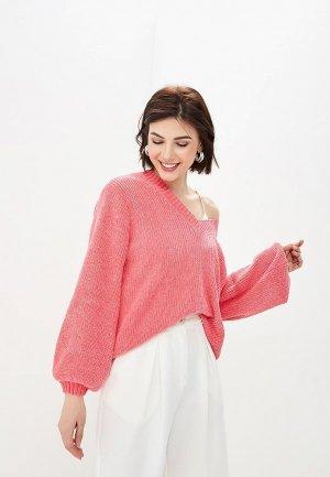 Пуловер Ostin O'stin. Цвет: коралловый