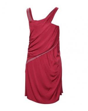 Короткое платье COSTUME NATIONAL. Цвет: красно-коричневый