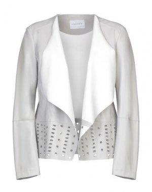 Пиджак CAFèNOIR. Цвет: светло-серый