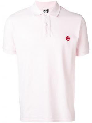 Базовая футболка-поло Aspesi. Цвет: розовый