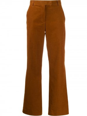 Расклешенные вельветовые брюки A.P.C.. Цвет: коричневый