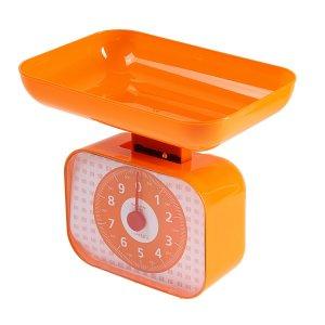 Весы кухонные luazon lvkm-1001,механические, до 10 кг, чаша 1200 мл, оранжевые Home