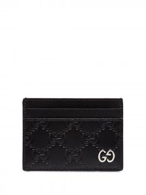 Картхолдер с логотипом GG Gucci. Цвет: черный