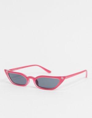 Розовые солнцезащитные очки «кошачий глаз» -Розовый цвет AJ Morgan