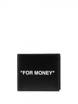Бумажник с принтом Off-White. Цвет: черный
