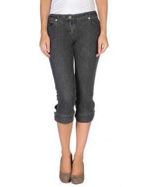 Джинсовые брюки-капри CARACTERE. Цвет: черный