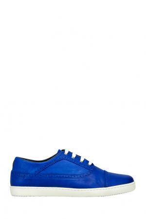 Кожаные кеды CR7. Цвет: синий