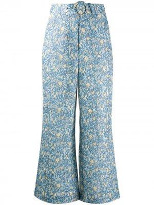 Расклешенные брюки Carnaby Zimmermann. Цвет: синий