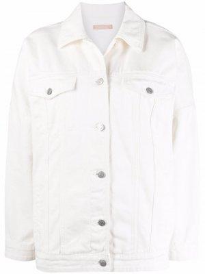 Джинсовая куртка прямого кроя 12 STOREEZ. Цвет: нейтральные цвета