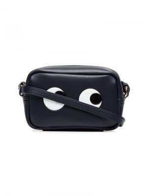 Маленькая сумка через плечо Anya Hindmarch. Цвет: синий