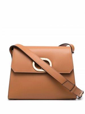 Сумка на плечо с логотипом Dee Ocleppo. Цвет: коричневый