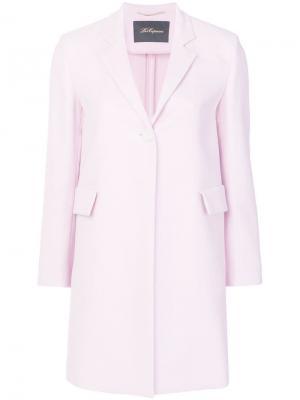 Легкое однобортное пальто Les Copains. Цвет: розовый