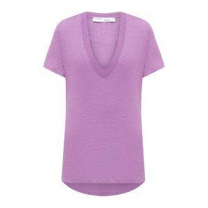 Льняная футболка Iro. Цвет: фиолетовый