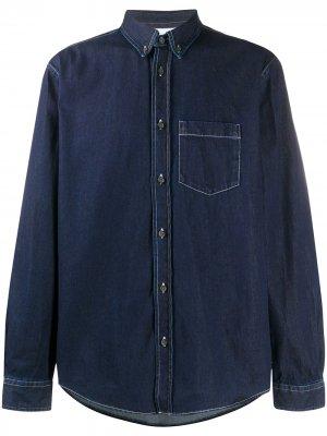 Джинсовая рубашка на пуговицах Acne Studios. Цвет: синий
