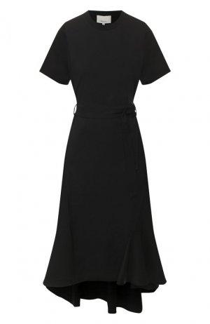 Шерстяное платье 3.1 Phillip Lim. Цвет: чёрный