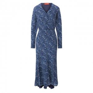 Шелковое платье Altuzarra. Цвет: синий