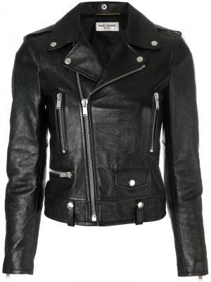 Fitted biker jacket Saint Laurent. Цвет: чёрный