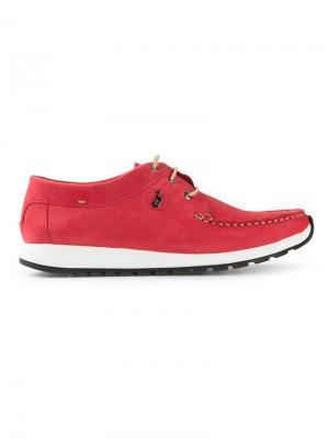 Палубные ботинки B Store. Цвет: красный