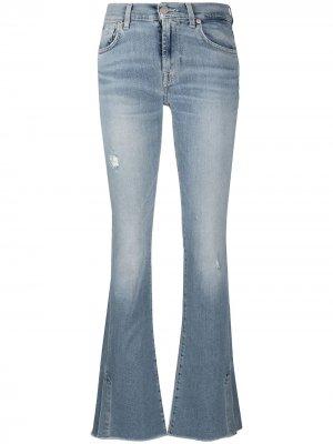 Расклешенные джинсы с заниженной талией 7 For All Mankind. Цвет: синий