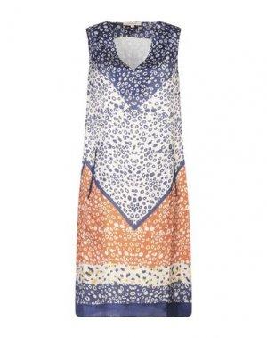 Короткое платье RENE' DERHY. Цвет: бежевый
