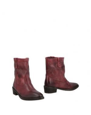Полусапоги и высокие ботинки LOGAN. Цвет: красно-коричневый