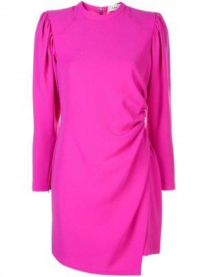 Платье с запахом и круглым вырезом A.L.C.. Цвет: розовый