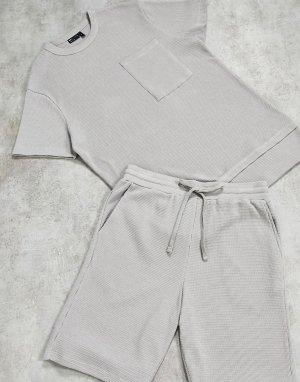 Серый пижамный комплект ASOS DESIGN