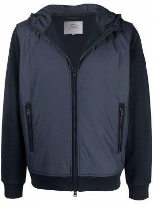 Куртка на молнии с капюшоном Woolrich. Цвет: синий