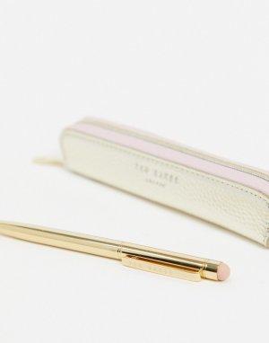 Ручка для сенсорных экранов с блокнотом -Золотой Ted Baker