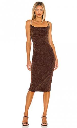 Платье миди ira House of Harlow 1960. Цвет: коричневый
