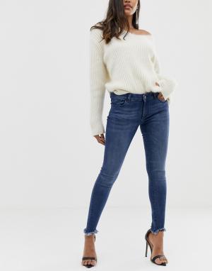 Укороченные джинсы скинни с необработанными краями Margaux-Синий DL1961