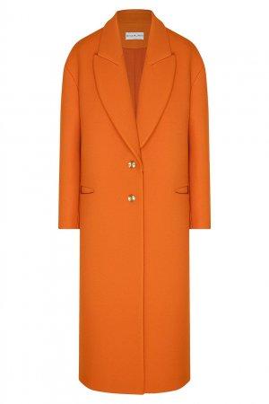 Ярко-оранжевое пальто Chapurin. Цвет: оранжевый