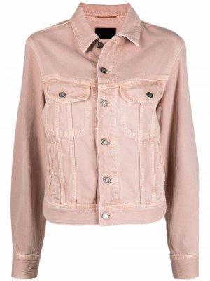 Джинсовая куртка Ozone Saint Laurent. Цвет: розовый