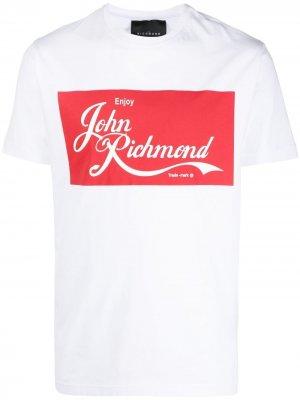 Футболка с логотипом John Richmond. Цвет: белый