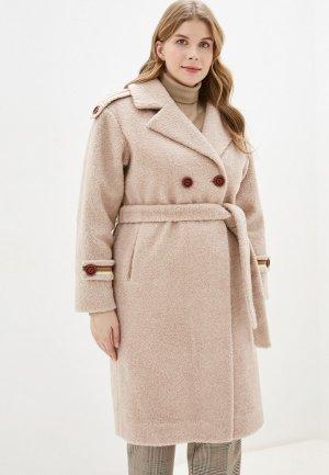 Пальто Grafinia. Цвет: бежевый