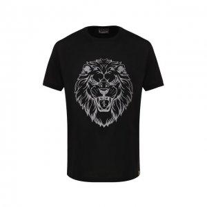 Хлопковая футболка Billionaire. Цвет: чёрный