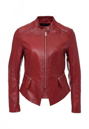Куртка кожаная MAX&Co MA111EWJSV84. Цвет: бордовый