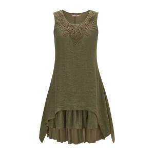 Платье-миди расклешенное без рукавов JOE BROWNS. Цвет: хаки