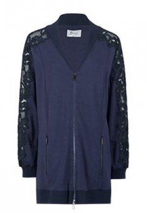 Куртка MARIA GRAZIA SEVERI. Цвет: синий