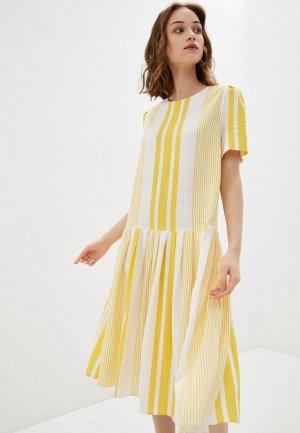 Платье Bulmer. Цвет: желтый